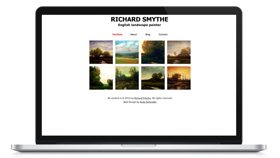 Screen shot of Richard Smythe website